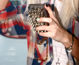 iphone, studs, and case image