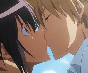 anime, kiss, and misaki image