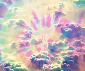 clouds, colorful, and cute image