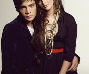 gossip girl, ed westwick, and leighton meester image