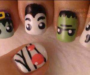 nails, Halloween, and mummy image