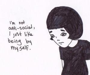 anti social, anti-social, and antisocial image