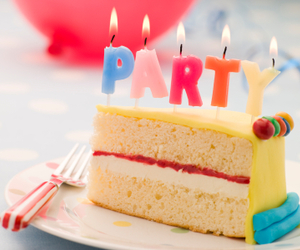 party, cake, and birthday image