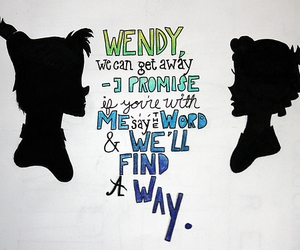 peter pan, wendy, and all time low image