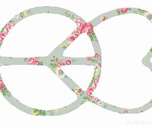 peace, love, and flowers image