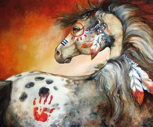 horse, indian, and rodeo image