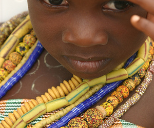 africa, beads, and child image