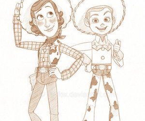 cowboy, jessie, and woody image