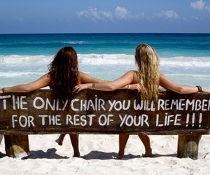 beach, summer, and chair image