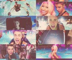 justin bieber, beauty and a beat, and nicki minaj image
