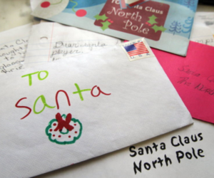 christmas, santa, and Letter image