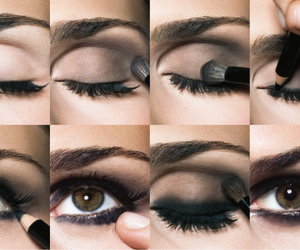 eyes, black, and make up image