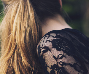 girl, hair, and lace image