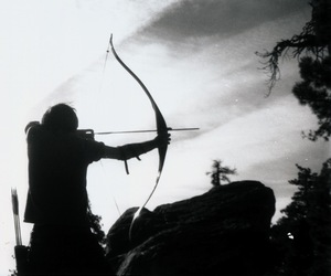 archer and black and white image