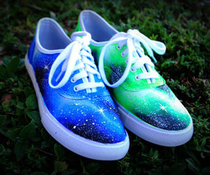 shoes, galaxy, and vans image