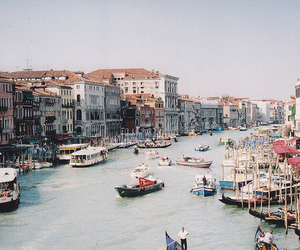 boat, venice, and vintage image