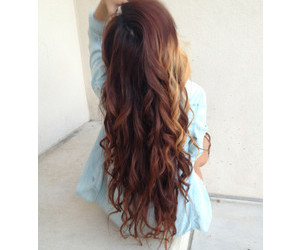 hair, brunette, and long image