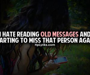 quote, message, and miss image