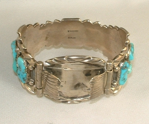 navajo, turquoise, and signed image