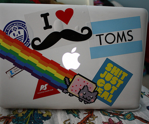 apple, toms, and mustache image
