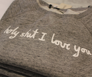 love, quote, and sweater image