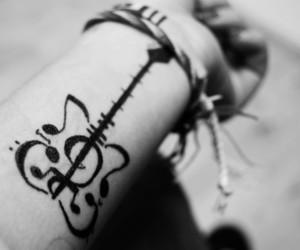 tattoo, music, and guitar image