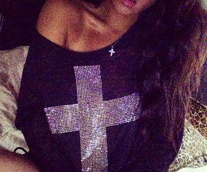 girl, fashion, and cross image