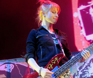 bass, guitar, and hayley williams image