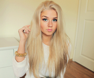 blonde and beauty image