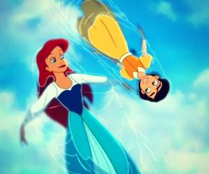 melody, ariel, and disney image