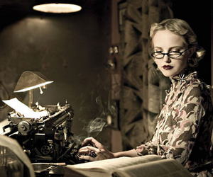 photography, glasses, and typewriter image