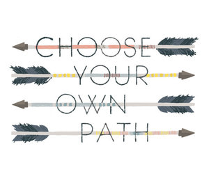 quote, arrow, and path image