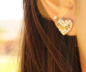 earrings, juicy couture, and heart image