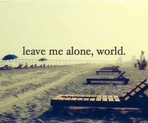 alone, world, and quote image