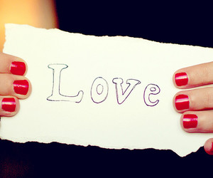 love, nails, and red image