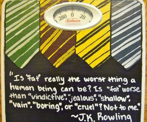 jk rowling, fat, and harry potter image