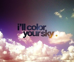 sky, quote, and color image
