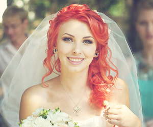 girl, hair, and wedding image