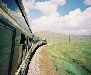train, nature, and landscape image