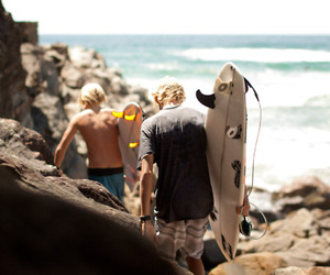 boy, photography, and surf image