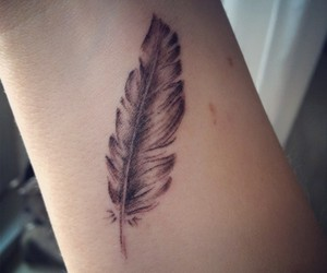 feather, tattoo, and love image