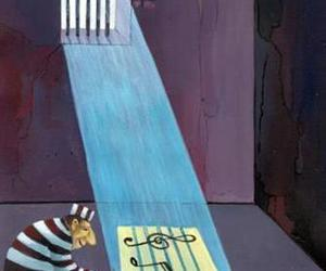 music, prison, and art image