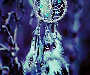 Dream, blue, and dreamcatcher image