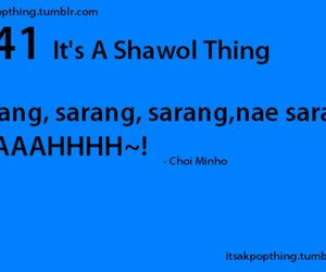 Minho, SHINee, and it's a shawol thing image