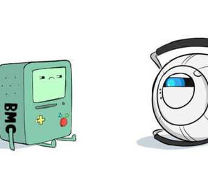 adventure time and portal 2 image