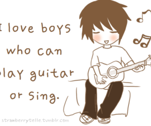 boy, guitar, and quote image