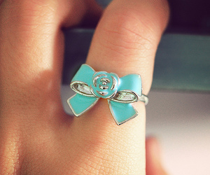 ring, bow, and blue image