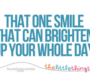 quote, day, and smile image