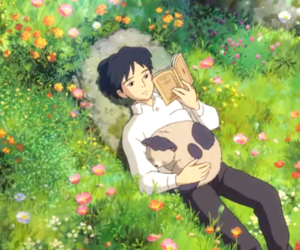 anime, cat, and nature image