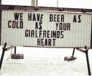 beer, heart, and girlfriend image